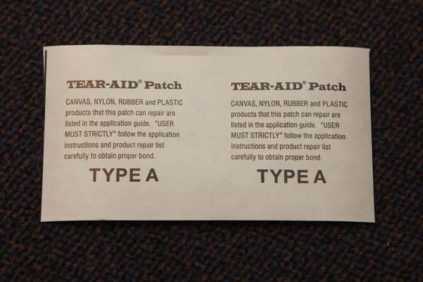 Tear Aid Typ B Beutel 14 Cm Patch